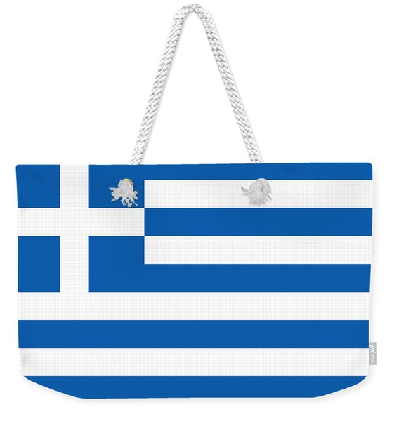 Flag Of Greece Weekender Tote Bag