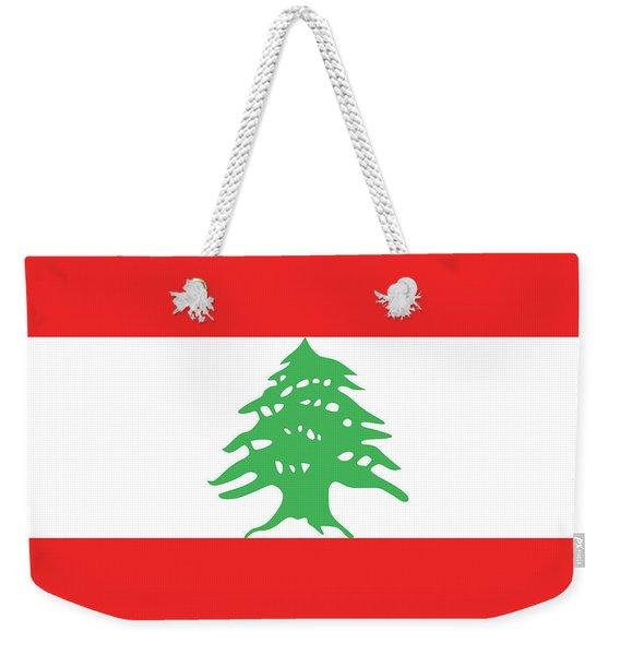 Flag Of Lebanon. Weekender Tote Bag