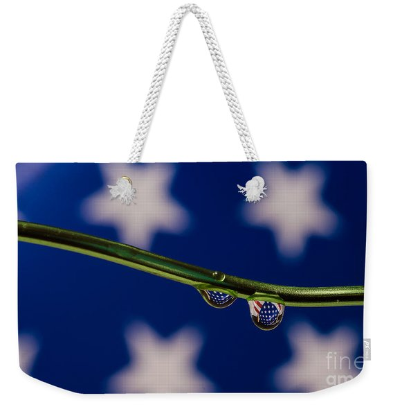 flag on a Wire Weekender Tote Bag