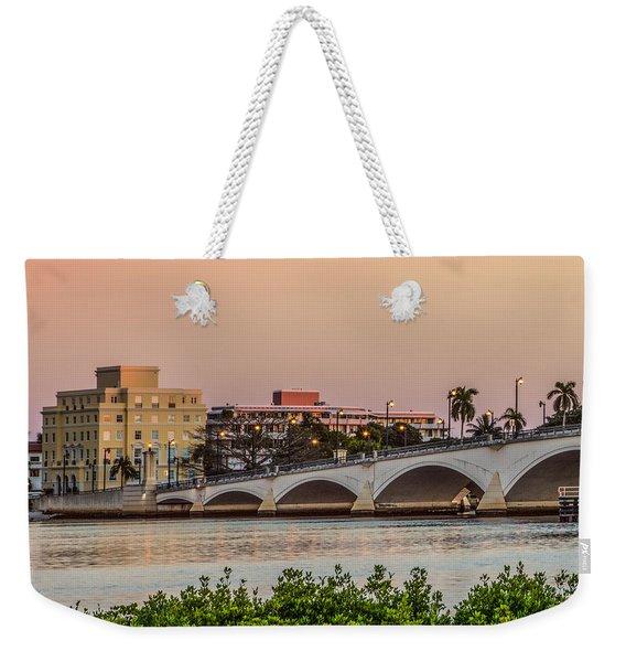 Flagler Bridge In The Evening I Weekender Tote Bag