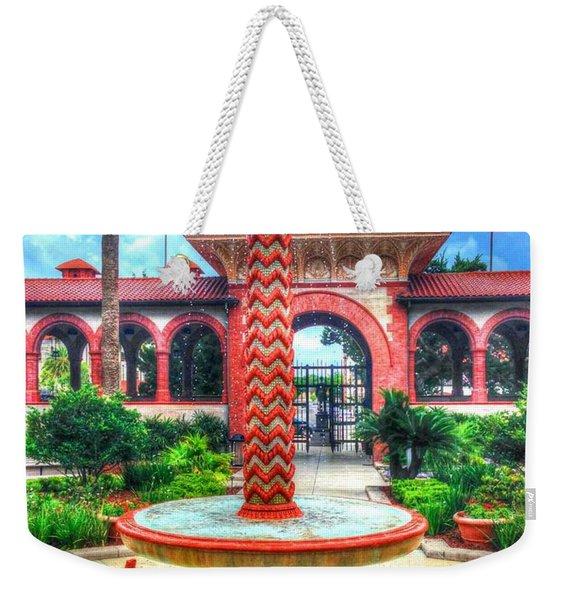 Flagler College Fountain Weekender Tote Bag