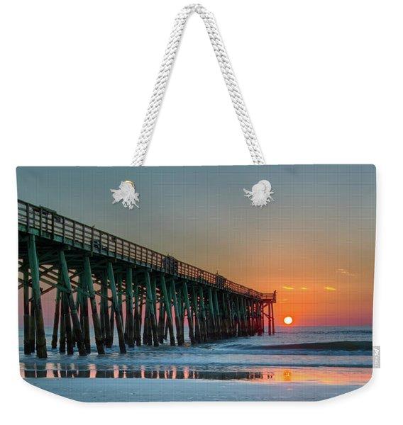 Flagler Pier Sunrise Weekender Tote Bag