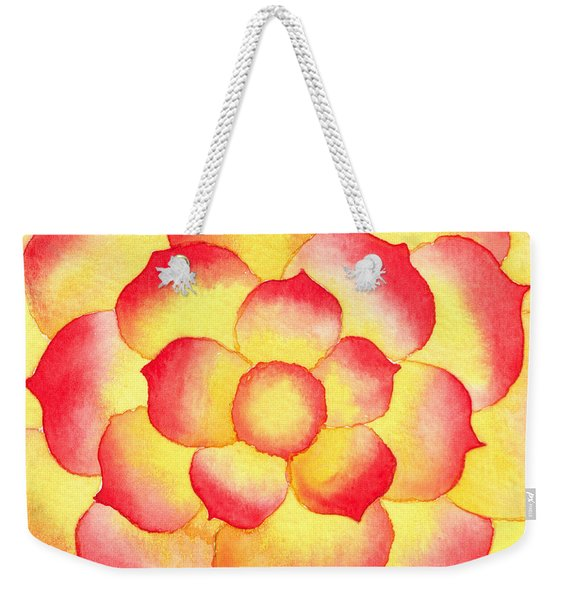 Flame Tip Watercolor Weekender Tote Bag