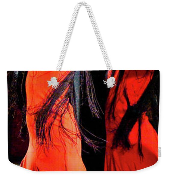 Weekender Tote Bag featuring the photograph Flamenco 38 by Catherine Sobredo