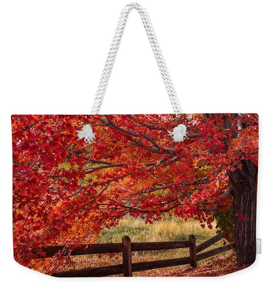 Flames On The Fence Weekender Tote Bag