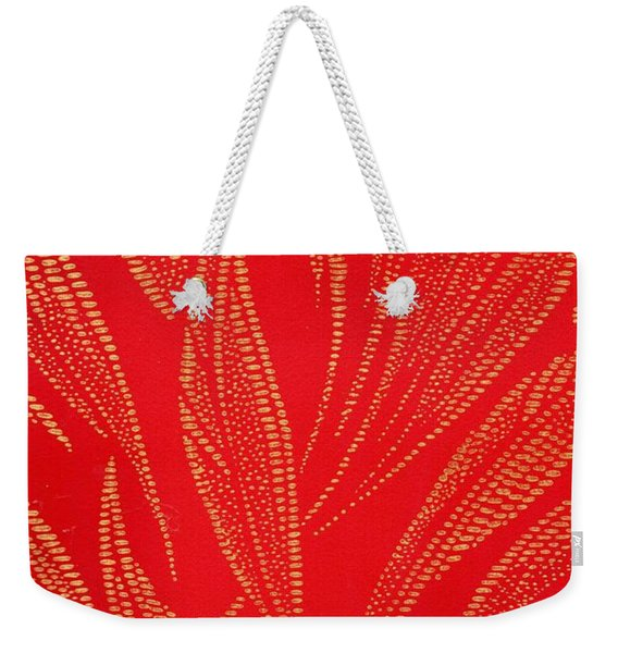 Weekender Tote Bag featuring the mixed media Flamework by Writermore Arts
