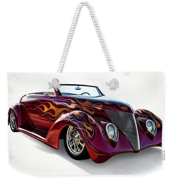 Flamin' Red Roadster Weekender Tote Bag