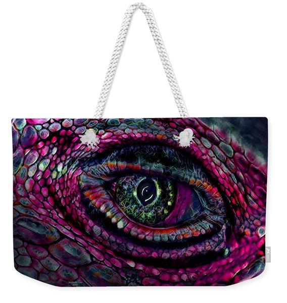 Flaming Dragons Eye Weekender Tote Bag