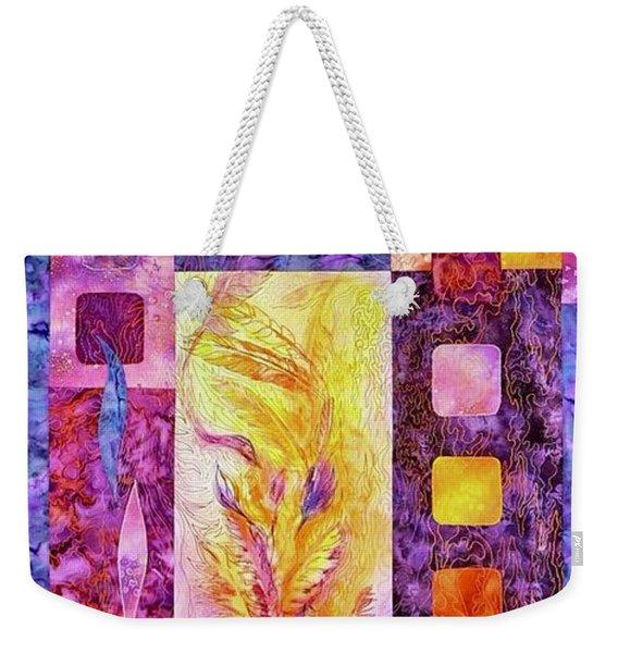 Flaming Feathers Weekender Tote Bag
