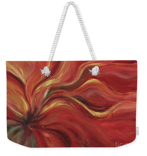 Flaming Flower Weekender Tote Bag