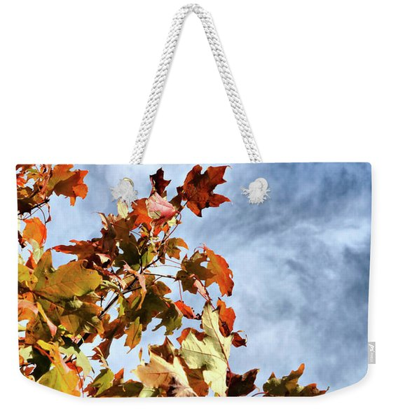 Flaming Foliage Weekender Tote Bag