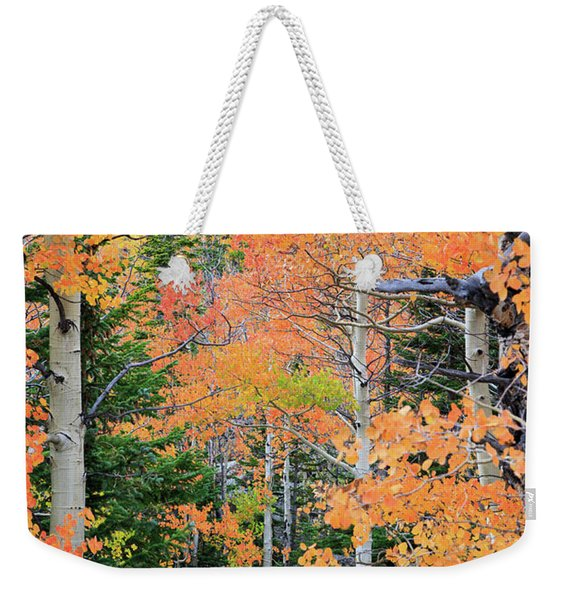 Flaming Forest Weekender Tote Bag