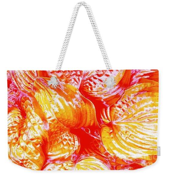 Flaming Hosta Weekender Tote Bag