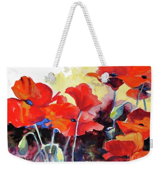 Flaming Poppies Weekender Tote Bag