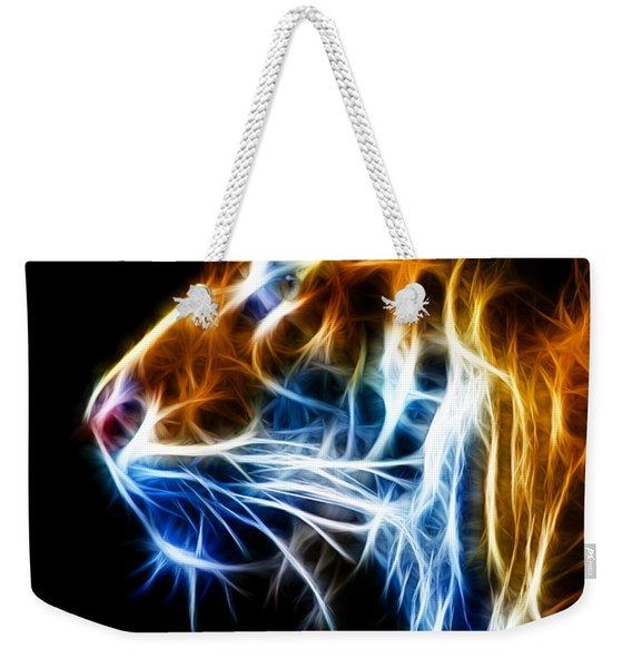 Flaming Tiger Weekender Tote Bag