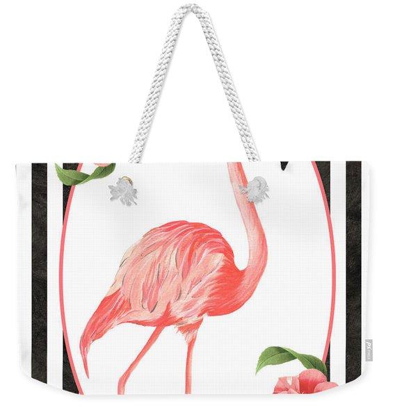 Flamingo Amore 6 Weekender Tote Bag