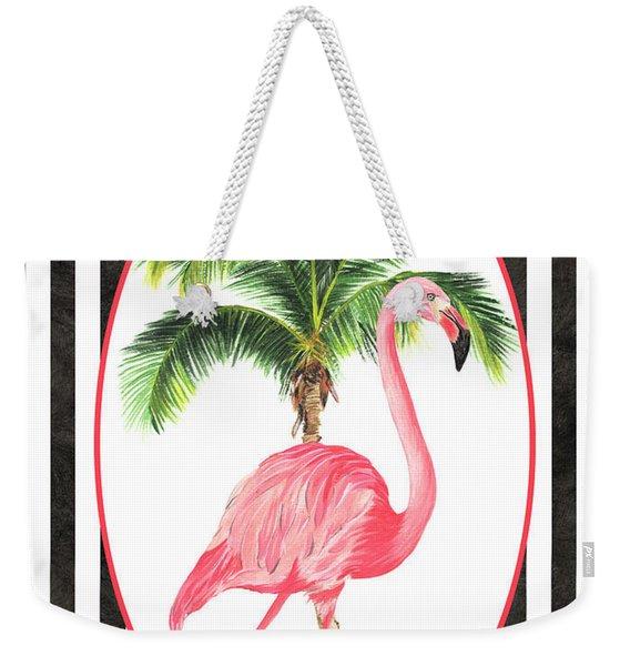 Flamingo Amore 7 Weekender Tote Bag