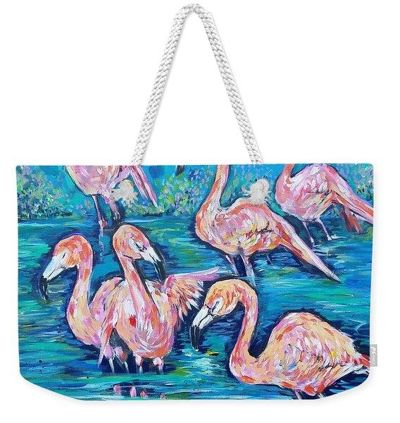 Flamingos At Zoo Atlanta  Weekender Tote Bag