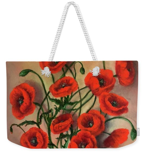 Flander Poppies Weekender Tote Bag