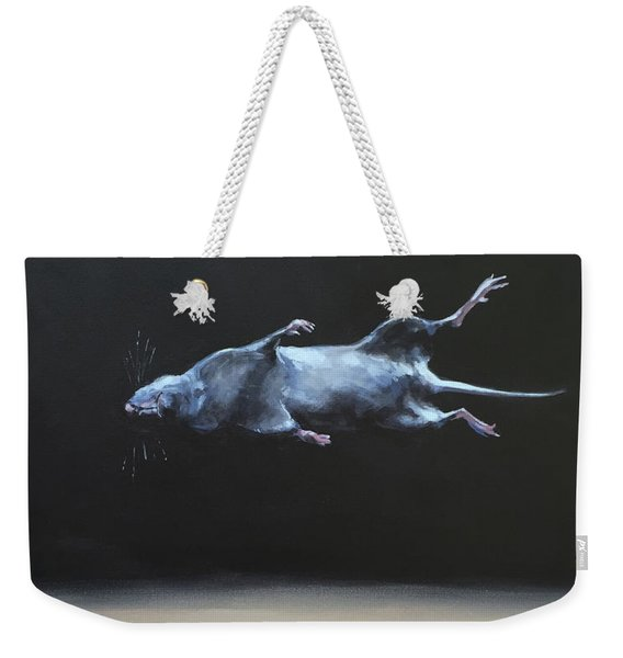 Floating Field Mouse Weekender Tote Bag