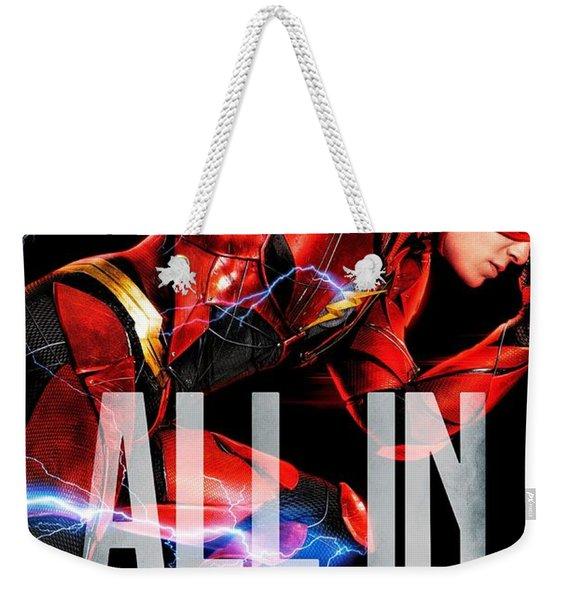 Flash Poster Justice League Weekender Tote Bag