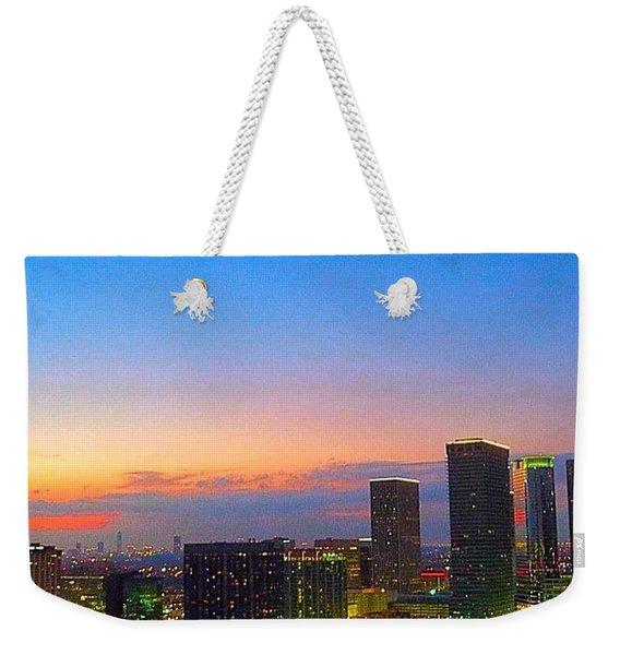 #flashbackfriday - The #sunset Over Weekender Tote Bag