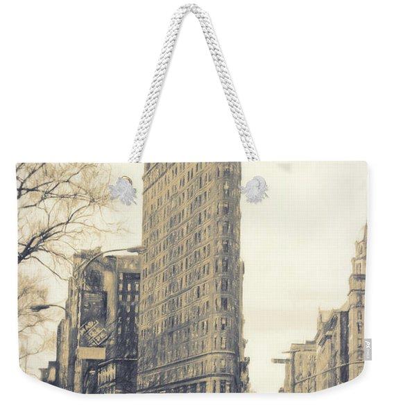 Flat Iron Building North Side - Sketch Weekender Tote Bag
