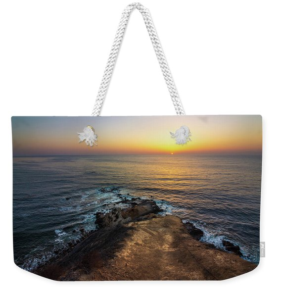 Weekender Tote Bag featuring the photograph Flat Rock Point Sunset by Andy Konieczny