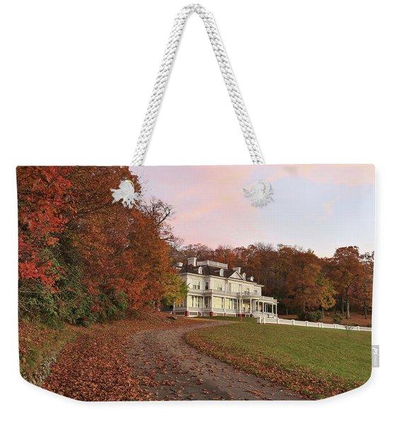 Flat Top Manor At Sunrise Weekender Tote Bag