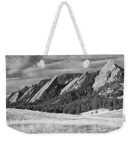 Flatiron Morning Light Boulder Colorado Bw Weekender Tote Bag