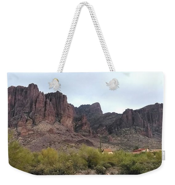 Flatiron Of The Superstition Mountains Weekender Tote Bag