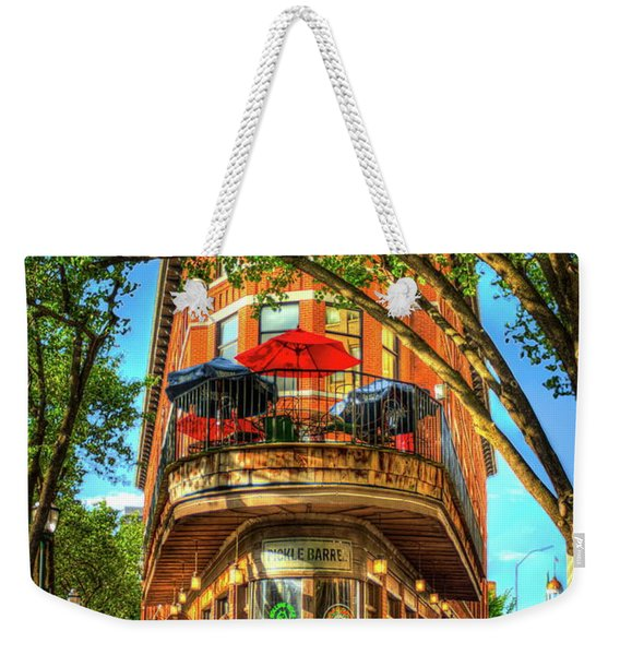 Flatiron Style Pickle Barrel Building Chattanooga Tennessee Weekender Tote Bag
