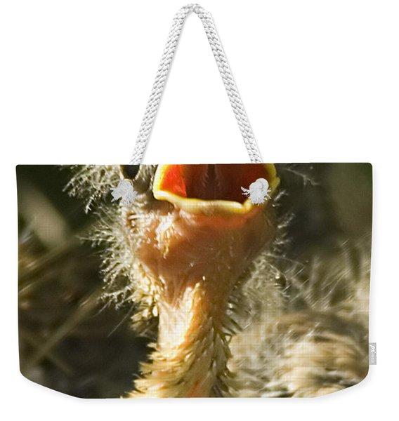 Fledgling Yellow Warbler Weekender Tote Bag