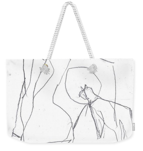Fleeing Woman Weekender Tote Bag
