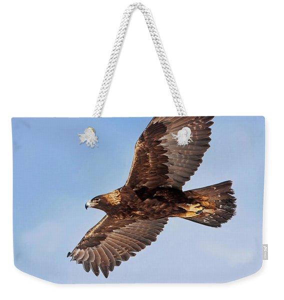Flight Of The Golden Eagle Weekender Tote Bag