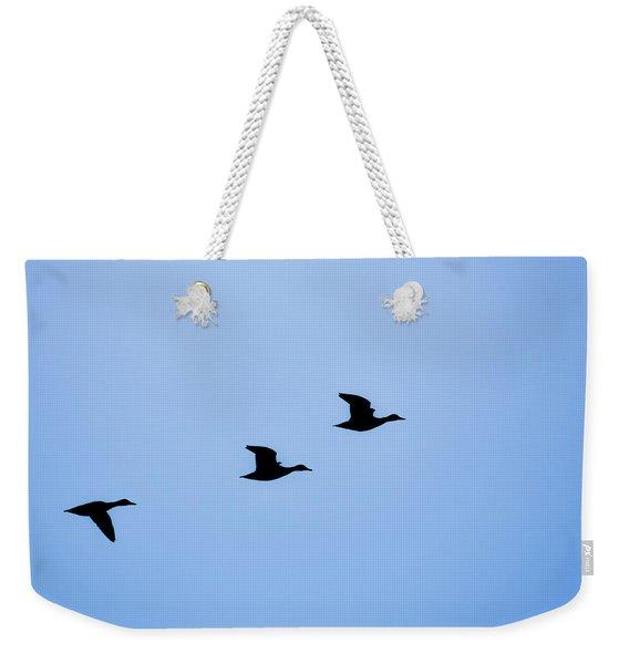 Flight Of Three Weekender Tote Bag