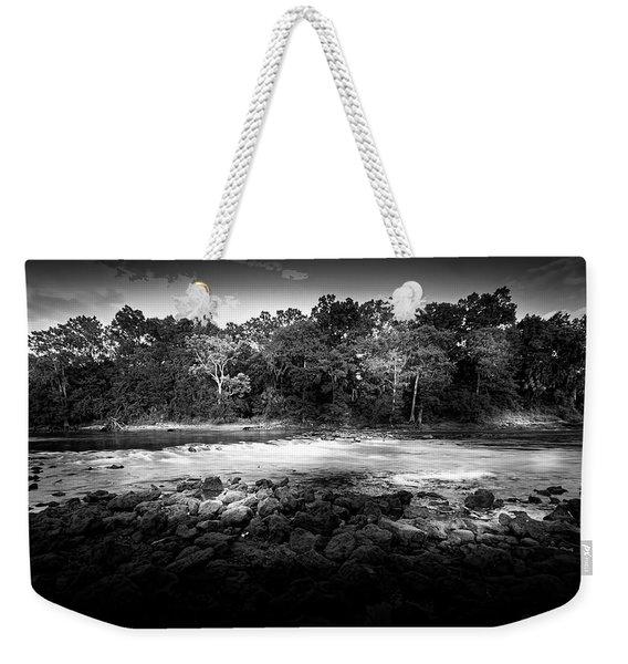 Flint River Rapids B/w Weekender Tote Bag