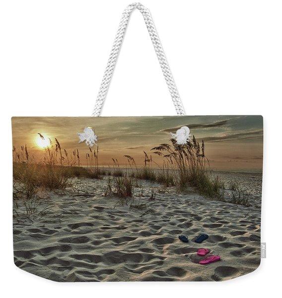 Flipflops On The Beach Weekender Tote Bag
