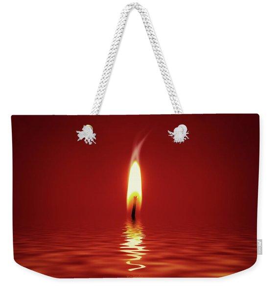 Floating Candlelight Weekender Tote Bag