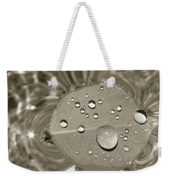 Floating Droplets Weekender Tote Bag