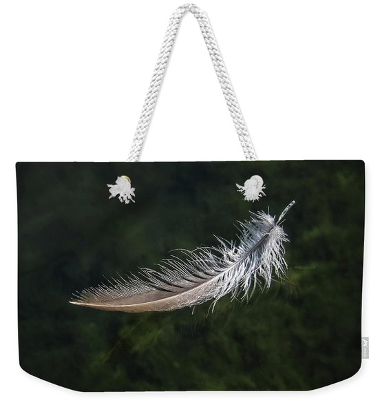 Floating Feather Weekender Tote Bag