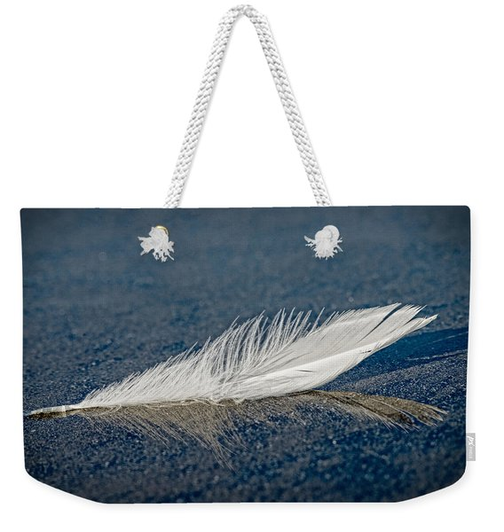 Floating Feather Reflection Weekender Tote Bag