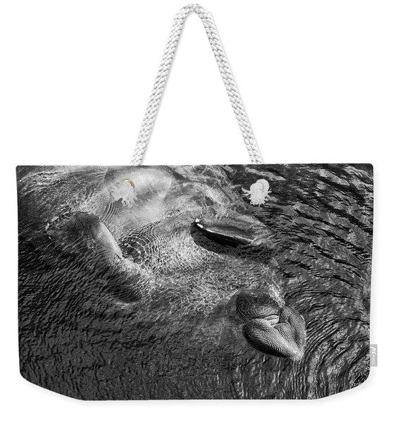 Floating Manatee Weekender Tote Bag
