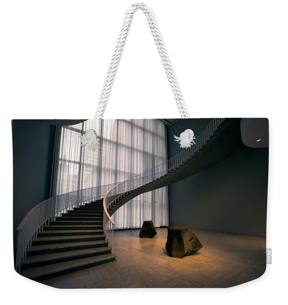 Floating Spiral Staircase Of Chicago Art Institute Weekender Tote Bag