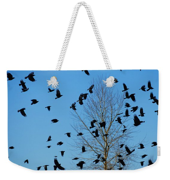 Flock Of Crows Weekender Tote Bag