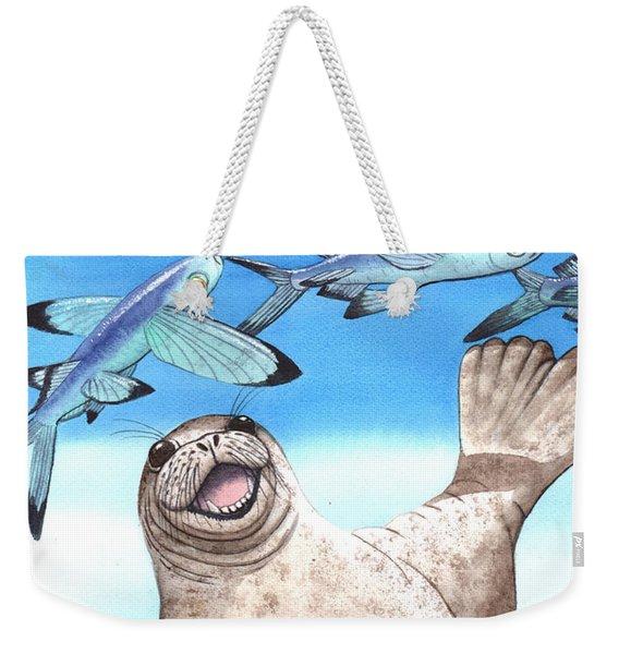 Flock Of Fish Weekender Tote Bag