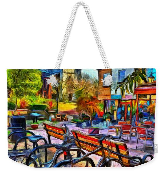 Floppy Bikes And Empty Benches Weekender Tote Bag