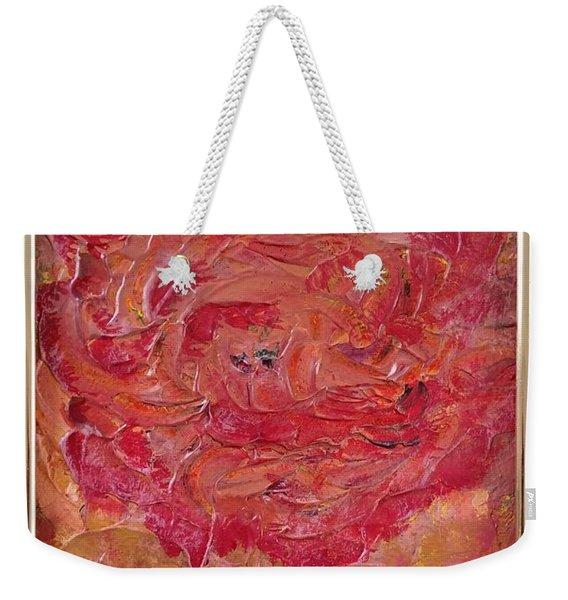Floral Abstract 1 Weekender Tote Bag