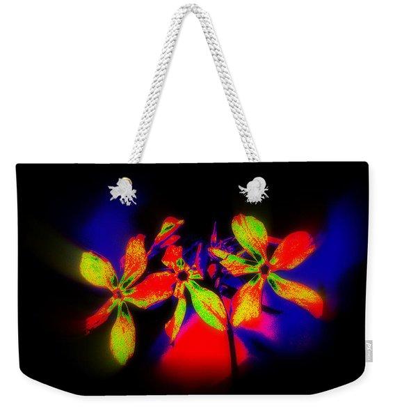 Floral Aurora Borealis   Weekender Tote Bag