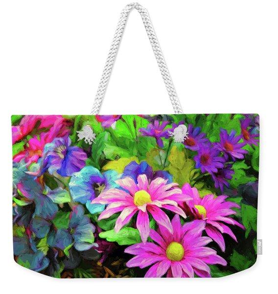 Floral Bouqet Weekender Tote Bag